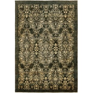 Reviews One-of-a-Kind Huntingdon Hand-Knotted 6'5 x 9'6 Wool Green Area Rug By Isabelline