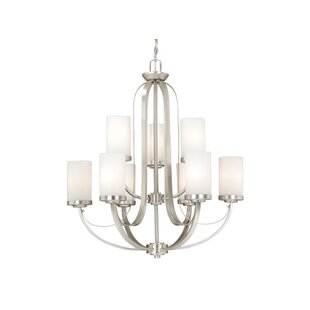Latitude Run Lemelin 9-Light Shaded Chandelier