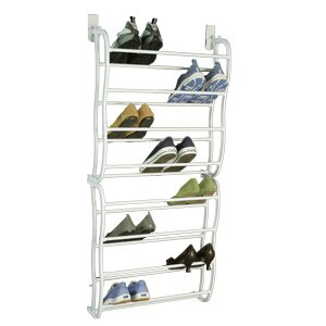 Richards Homewares 24 Pair Over the Door Shoe Rack