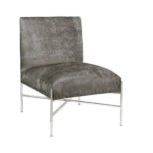 Betts Polished Steel Side Chair by Orren Ellis
