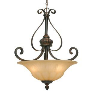 Reviews Gregory 3-Light Bowl Pendant By Three Posts