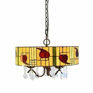 Warehouse of Tiffany Rosy 3-Light Pendant