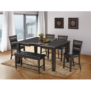 Awesome 6 Piece Counter Height Dining Set