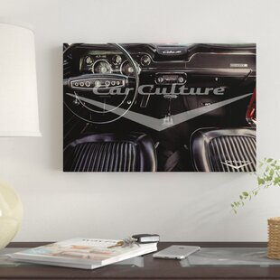 '1968 Ford Mustang Cobra Jet 428' Graphic Art Print on Canvas By East Urban Home