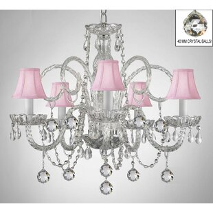 Read Reviews Meredith 5-Light Shaded Chandelier By House of Hampton