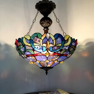 Astoria Grand Suvi 2-Light Glass Bowl Pendant
