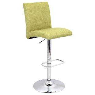 Dicus Adjustable Height Swivel Bar Stool by Ebern Designs