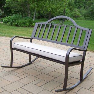Lisabeth Metal Rocking Garden Bench