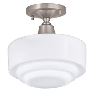 Top Reviews Fredericksen 1-Light Semi-Flush Mount By Darby Home Co