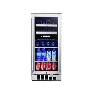 8 Bottle Dual Zone Built-In Wine Cooler