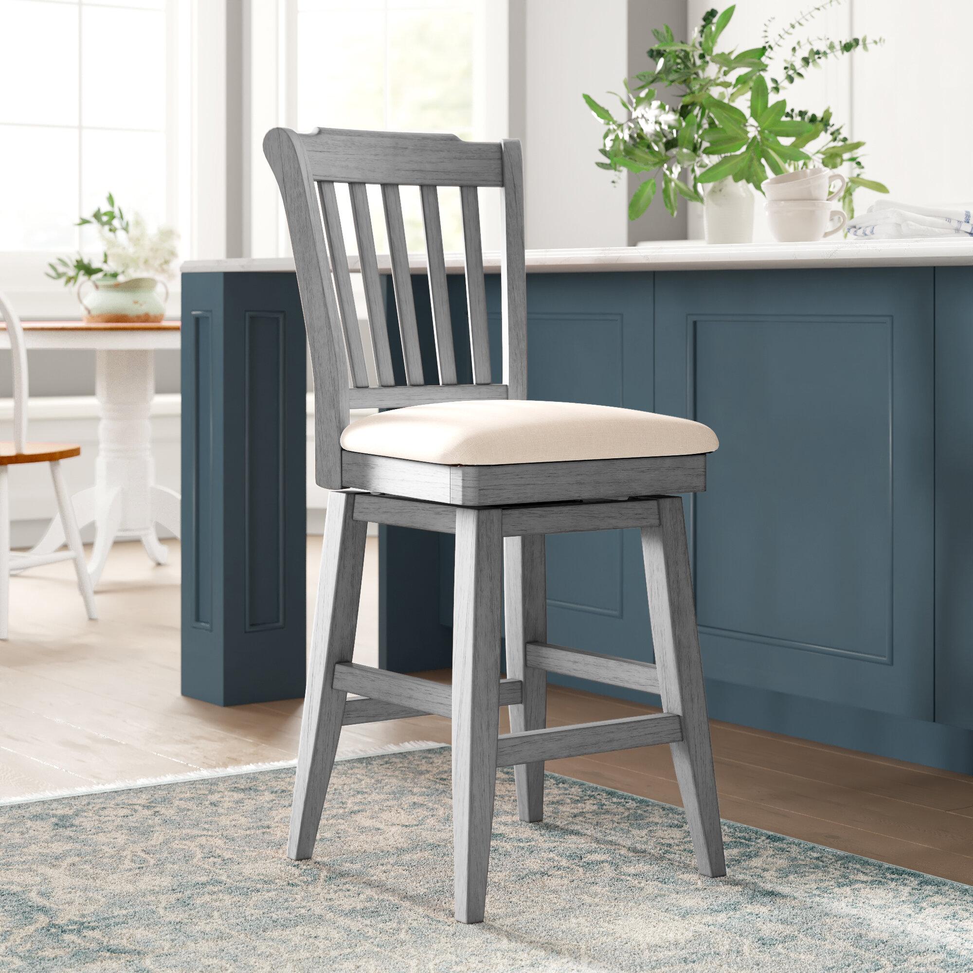 Cool Hiram 25 75 Slat Back Swivel Bar Stool Ibusinesslaw Wood Chair Design Ideas Ibusinesslaworg