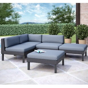 Abeale 5 Piece Sectional Set With Cushions by Wrought Studio Great price