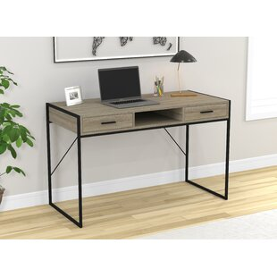 Stringer Wood And Metal Desk by Union Rustic Discount