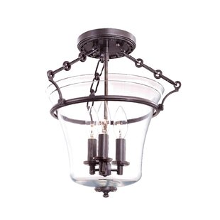 Darby Home Co Estelle 3-Light Semi Flush Mount