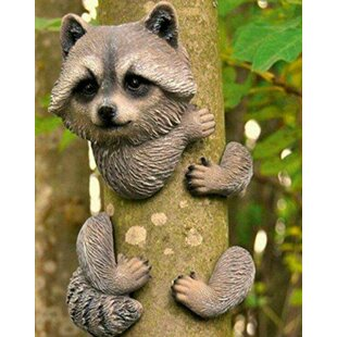 Hallock Raccoon Garden Tree Peeker By Sol 72 Outdoor