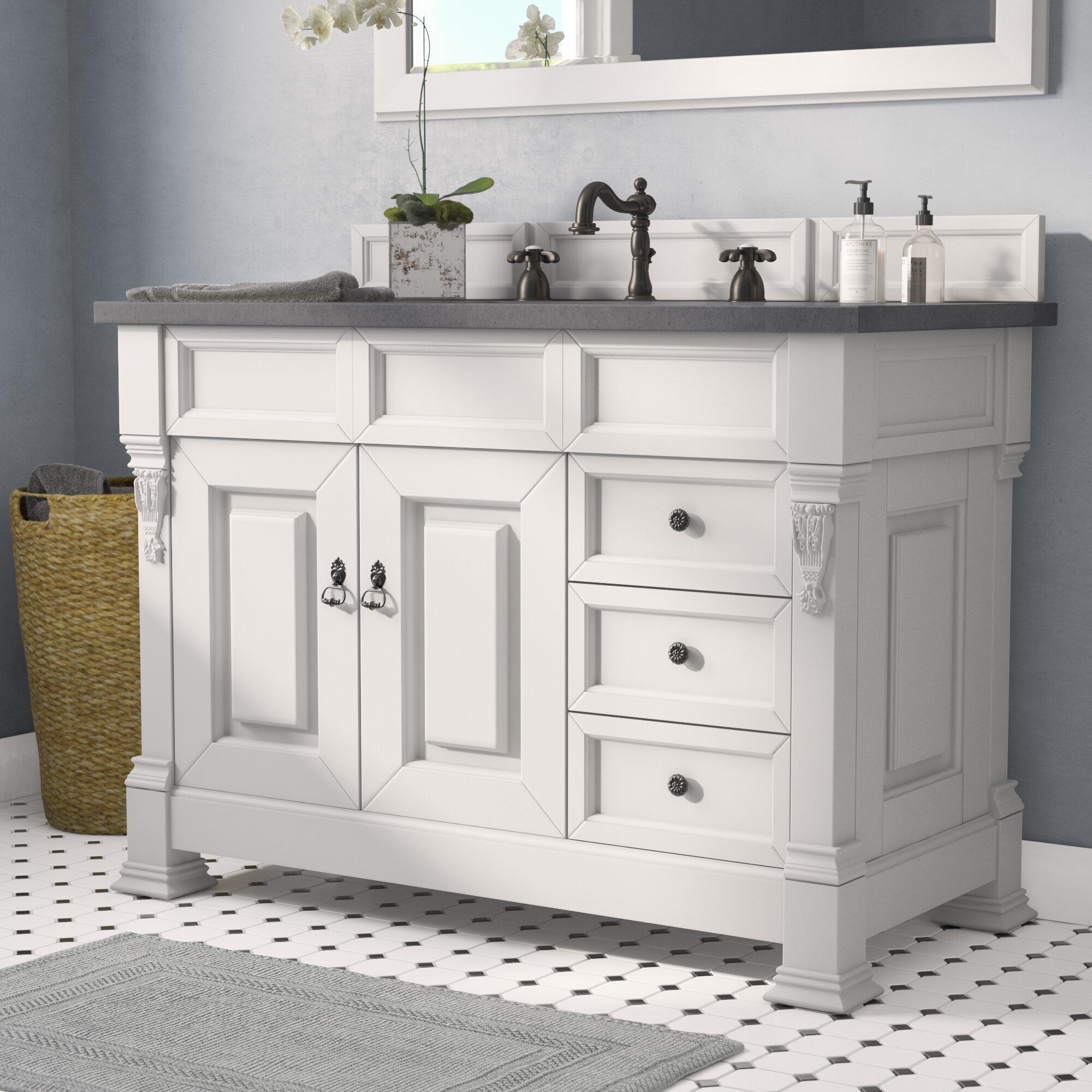 """Darby Home Co Bedrock 48"""" Single Bathroom Vanity Set with Drawers & Reviews   Wayfair"""