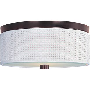 Bayou Breeze Denning 2-Light Fluorescent Flush Mount