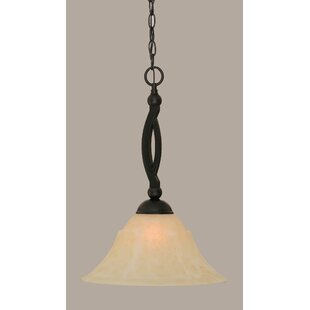 Fleur De Lis Living Blankenship Contemporary 1-Light Cone Pendant