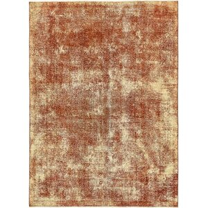 Sela Vintage Persian Hand Woven Wool Red/Cream Area Rug