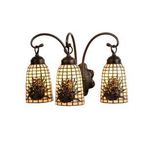 Price Check Pine Barons 3-Light Vanity Light By Meyda Tiffany