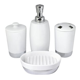 Compare prices Isai 4-Piece Bathroom Accessory Set By Charlton Home