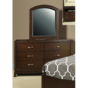 Loveryk 6 Drawer Double Dresser with Mirror