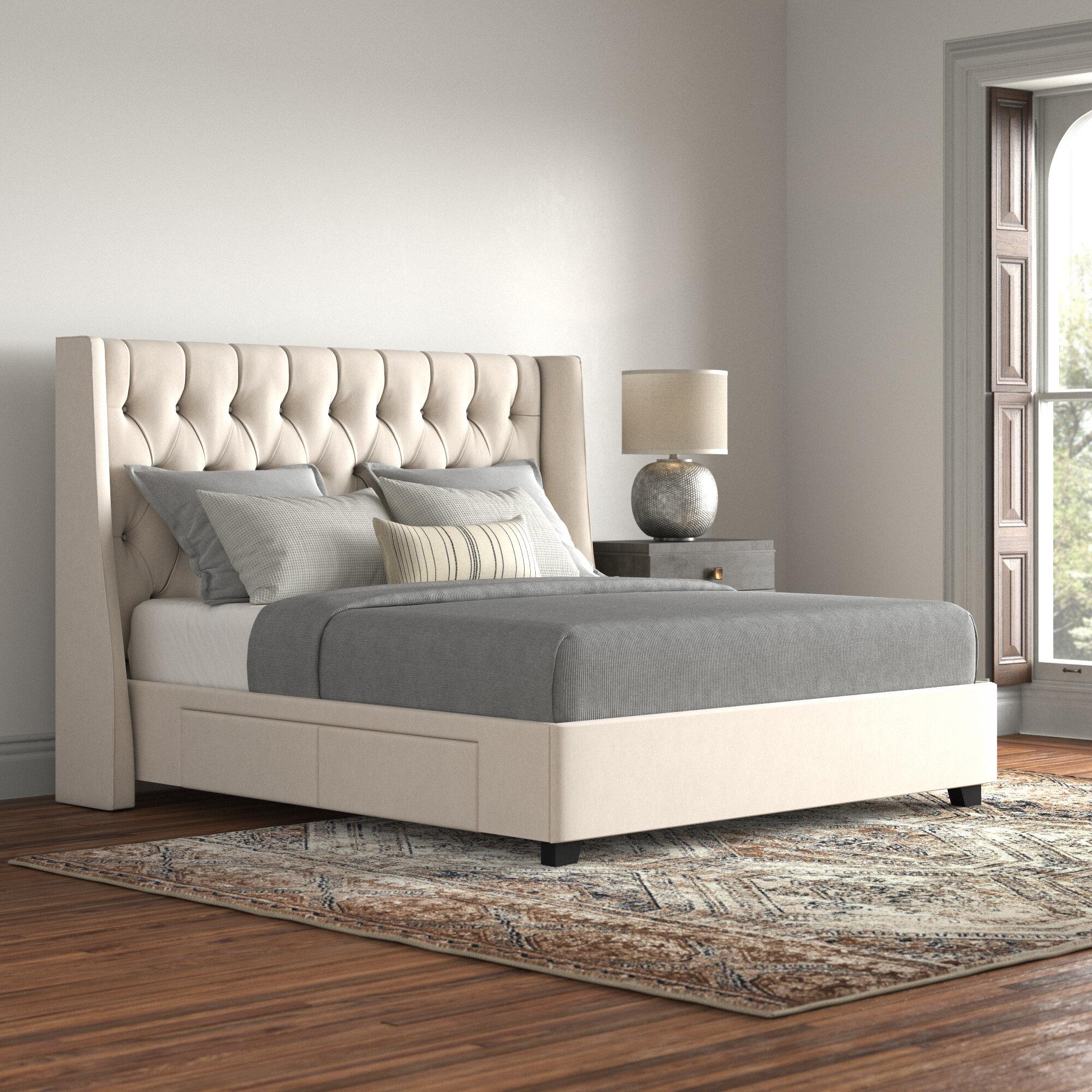 Larchmont Upholstered Storage Platform Bed Reviews Joss Main
