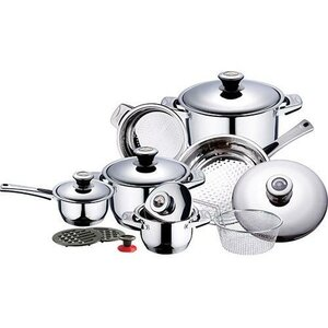 16 Piece Stainless Steel Cookware Set