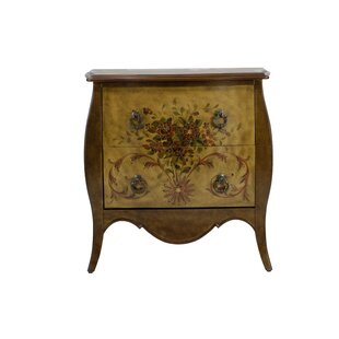 Fleur De Lis Living Cephas Hand Painted 2 Drawer Accent Chest