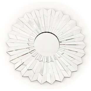 Fab Glass and Mirror Una Voce Stylish Round Frame Decorative Wall Mirror