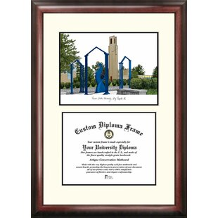 NCAA Ferris State Bulldogs Scholar Lithograph Diploma Frame By Campus Images