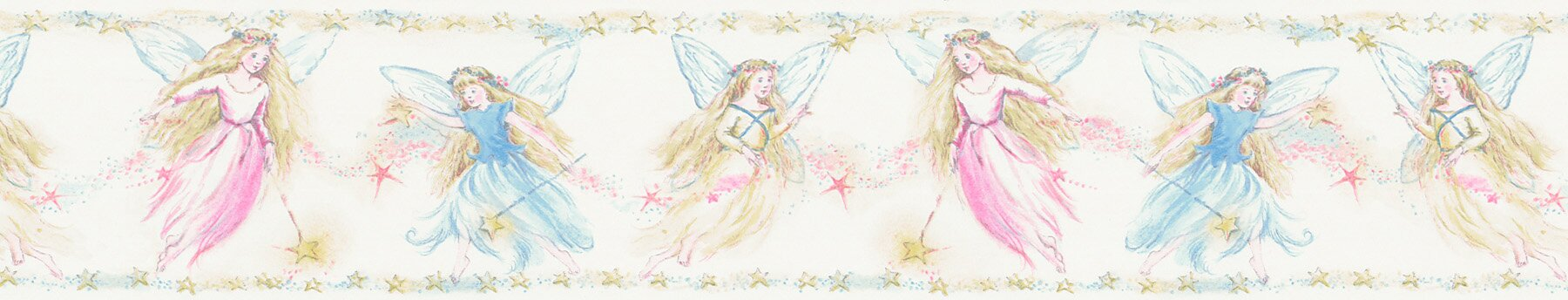 "Kids World Cottingley Fairies 33' x 20.5"" Figural Border Wallpaper"