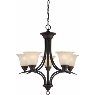 Fleur De Lis Living Whetsel 5-Light Shaded Chain Chandelier