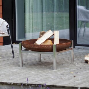Potrero Stainless Steel Charcoal/Wood Burning Fire Pit By Sol 72 Outdoor