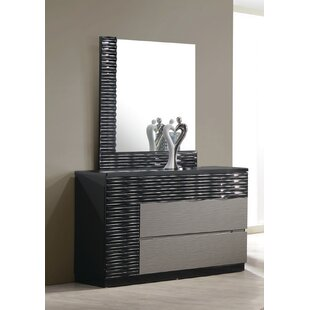 Kahlil 2 Drawer Dresser with Mirror