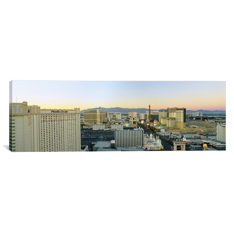 Ebern Designs Panoramic The Strip Las Vegas Nevada Usa 2 Wrapped Canvas Photographic Print Wayfair