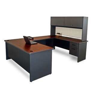 Crivello U-Shape Executive Desk With Hutch by Red Barrel Studio Cool