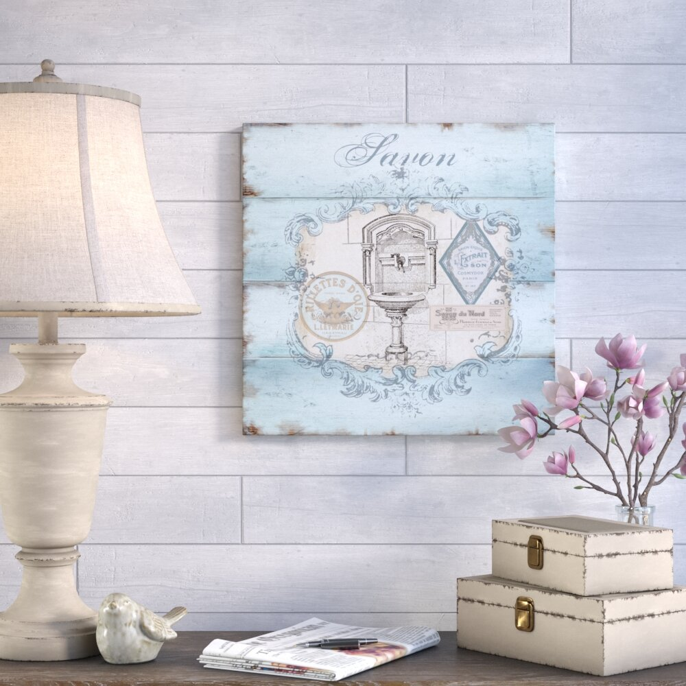 Ophelia Co French Bath Sink Graphic Art Print On Wrapped Canvas Reviews Wayfair