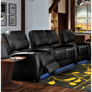Latitude Run Large Blue LED Home Theater Curved Row Seating (Row of 4)
