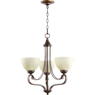 Lopes 3-Light Shaded Chandelier by Charlton Home