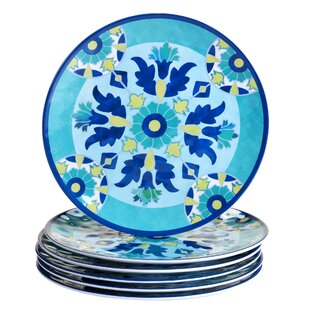 Granada 11\  Heavy Weight Melamine Dinner Plate (Set of 6)  sc 1 st  Wayfair & Light Weight Dinner Plates | Wayfair