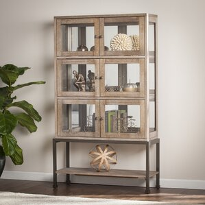 Pantin Lighted Curio Cabinet by Laurel Foundry Modern Farmhouse