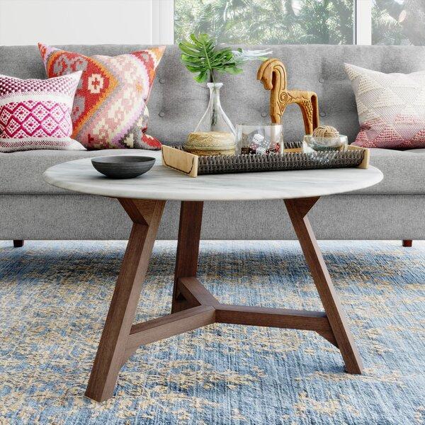 Faux White Marble Coffee Table | Wayfair