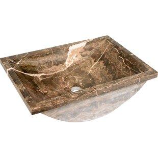Best Choices Natural Stone Sinks Stone Rectangular Undermount Bathroom Sink By D'Vontz