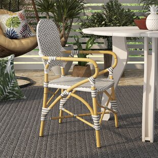 Nikolaos Stacking Patio Dining Chair (Set of 2) Bay Isle Home