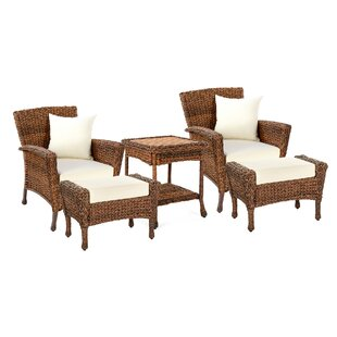 Outdoor Faux Sea Grass Garden Patio 5-Piece Relaxation Set By Highland Dunes