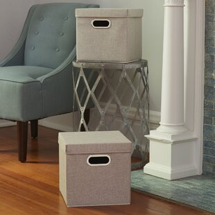 Fabric Box (Set of 2) by Winston Porter