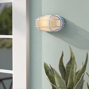 Rivka 1-Light Glass Shade Outdoor Bulkhead Light