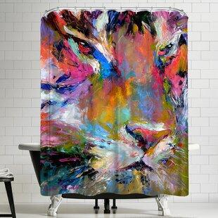 Richard Wallich Tiger Shower Curtain by East Urban Home