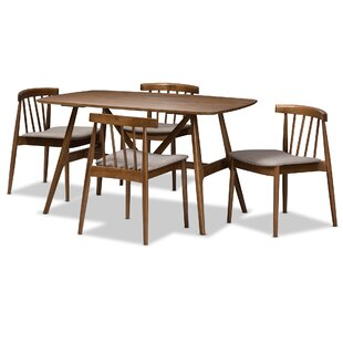 Watkin Mid-Century Modern 5 Piece Breakfast Nook Dining Set by George Oliver